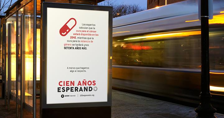 Proyecto Oxfam del CSP de Diseño Grafico con el eslogan cien años esperando