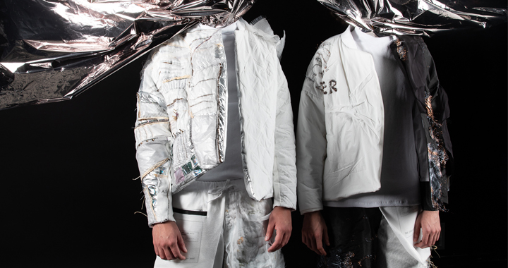 Proyecto del Postgrado de Trends Research con vestimentas de materiales futuristas