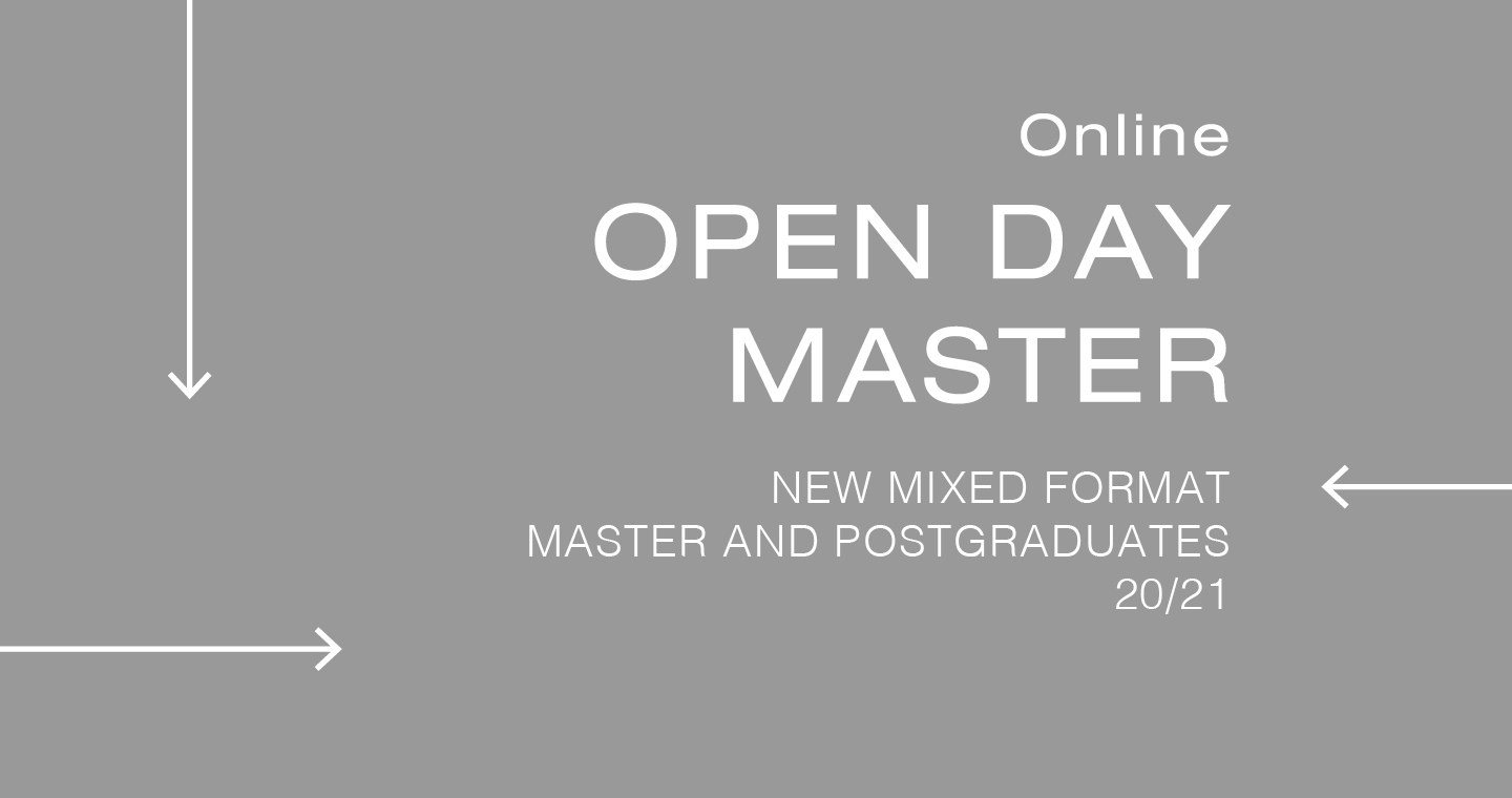 19/11 VIRTUAL OPEN DAY MASTER